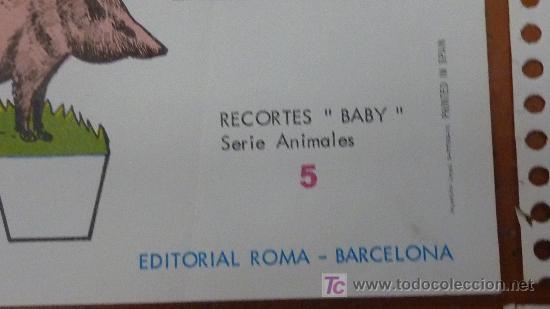 Coleccionismo Recortables: Lote de 9 recortables Baby. Serie Animales. Editorial Roma. Coleccion entera. - Foto 5 - 25733799