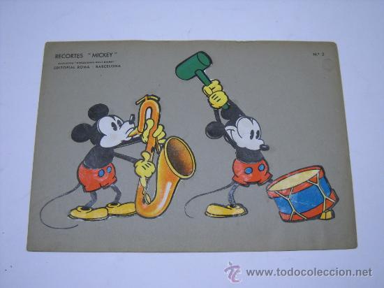 RECORTES MICKEY Nº 2 CREACIONES WALT DISNEY. EDIT ROMA BARCELONA.35X24 SOBRE CARTULINA GRUESA (Coleccionismo - Recortables - Animales)