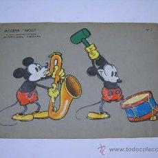 Coleccionismo Recortables: RECORTES MICKEY Nº 2 CREACIONES WALT DISNEY. EDIT ROMA BARCELONA.35X24 SOBRE CARTULINA GRUESA. Lote 22230186