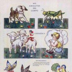 Coleccionismo Recortables: RECORTABLES ZAS DE EDITORIAL EURAMÉRICA - MIS AMIGUITOS DEL CAMPO. SERIE B, Nº 3. CIRCA 1940. Lote 27169530