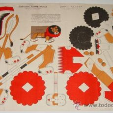 Coleccionismo Recortables: ANTIGUO RECORTABLE - EL LEON - LAMINA 1 .- COLECCION ZOOLOGICA . EDICIONES P.E.J. - HELIOS, MADRID -. Lote 24933803