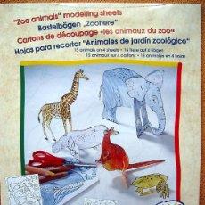 Coleccionismo Recortables: ZOO DE ANIMALES. 15 ANIMALES RECORTABLES PARA COLOREAR Y MONTAR.. Lote 96204940