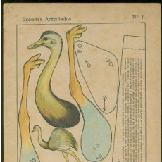 Coleccionismo Recortables: RECORTABLES. RECORTES ARTICULADOS. EDITORIAL ROMA. BARCELONA. Nº 1.. Lote 25877115