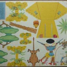 Coleccionismo Recortables: ANTIGUO RECORTABLE 'EL TORO'.- CACERÍA EN AFRICA.- SERIE B Nº 2.- TAMAÑO 44 X 31 CM.. Lote 60200442