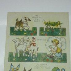 Coleccionismo Recortables: RECORTABLE MIS AMIGUITOS DEL CAMPO. RECORTABLES ¡ZAS!. SERIE B. Nº 3. AÑOS 1970S. Lote 30896280