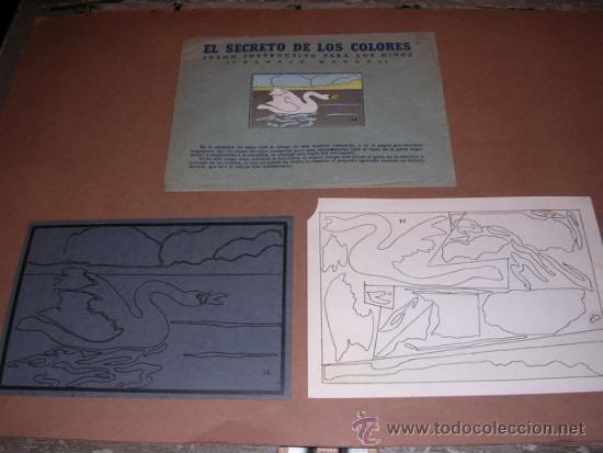 OCA EL SECRETO DE LOS COLORES, JUEGO INSTRUCTIVO PARA LOS NIÑIS, EDT SEIX Y BARRAL (Coleccionismo - Recortables - Animales)