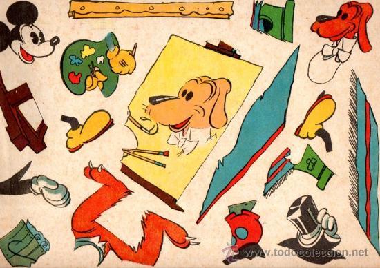 RECORTES RECORTABLE MICKEY, EXCLUSIVA CREACIONES WALT DISNEY, EDITORIAL ROMA, BARCELONA, Nº 5 (Coleccionismo - Recortables - Animales)