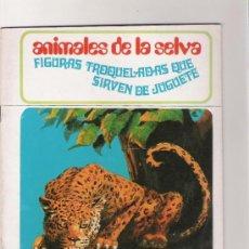 Coleccionismo Recortables: ANIMALES DE LA SELVA - FIGURAS TROQUELADAS QUE SIRVEN DE JUGUETE - AÑO 1971. Lote 31422758