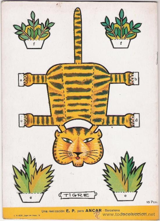 Coleccionismo Recortables: ANIMALES DE LA SELVA - FIGURAS TROQUELADAS QUE SIRVEN DE JUGUETE - AÑO 1971 - Foto 2 - 31457818