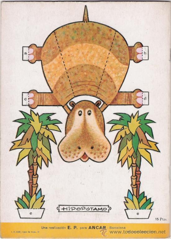 Coleccionismo Recortables: ANIMALES DE LA SELVA - FIGURAS TROQUELADAS QUE SIRVEN DE JUGUETE - AÑO 1971 - Foto 2 - 31457795