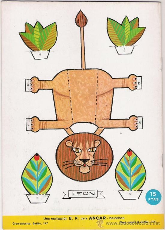 Coleccionismo Recortables: ANIMALES DE LA SELVA - FIGURAS TROQUELADAS QUE SIRVEN DE JUGUETE - AÑO 1971 - Foto 2 - 31422758