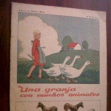 Coleccionismo Recortables: UNA GRANJA CON MUCHOS ANIMALES-LIBROS DE MAÑA Y RISA- RECORTABLE-SATURNINO CALLEJA-1ª SERIE Nº2. Lote 31557930