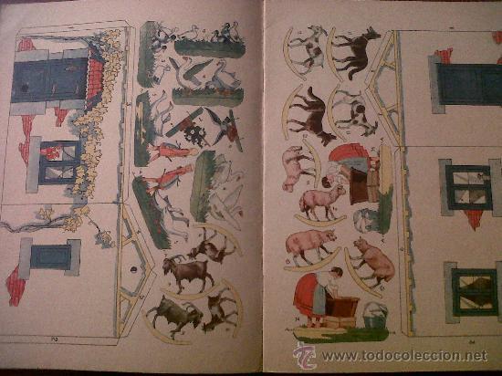 Coleccionismo Recortables: UNA GRANJA CON MUCHOS ANIMALES-LIBROS DE MAÑA Y RISA- RECORTABLE-SATURNINO CALLEJA-1ª SERIE Nº2 - Foto 3 - 31557930