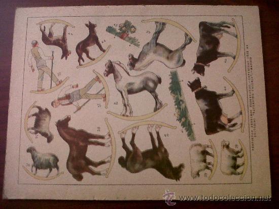 Coleccionismo Recortables: UNA GRANJA CON MUCHOS ANIMALES-LIBROS DE MAÑA Y RISA- RECORTABLE-SATURNINO CALLEJA-1ª SERIE Nº2 - Foto 2 - 31557930
