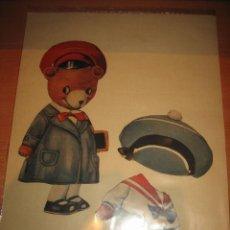 Collectables Paper Dolls - ANTIGUO OSO RECORTABLE DE VESTIR 2 VESTIDOS LEER DESCRIPCION - 32895152