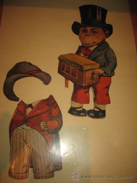 Coleccionismo Recortables: ANTIGUO MONO RECORTABLE DE VESTIR 2 VESTIDOS LEER DESCRIPCION - Foto 3 - 32895175