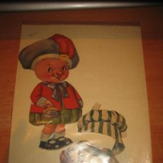 Collectables Paper Dolls - ANTIGUO CERDITO RECORTABLE DE VESTIR 2 VESTIDOS LEER DESCRIPCION - 32895214
