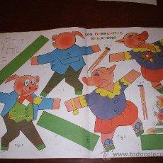 Coleccionismo Recortables: RECORTABLE DE LOS CERDITOS BAILARINES SUPLEMENTO REVISTA BILLIKEN 1950(VER FOTO ADI C Y LEER DESCRIP. Lote 33045847