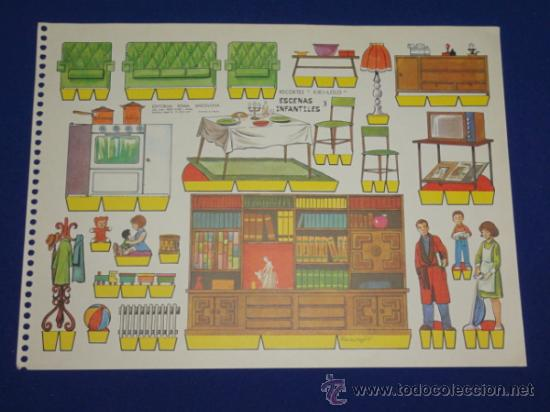 RECORTABLES RECORTES KIKI-LOLO Nº 3 - ESCENAS INFANTILES - EDITORIAL ROMA (Coleccionismo - Recortables - Animales)