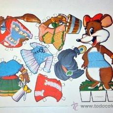 Coleccionismo Recortables: MODELO LAMINA 7. RECORTABLE FABULA ANIMAL RATON MARIQUITA AÑO 1970. Lote 127220686