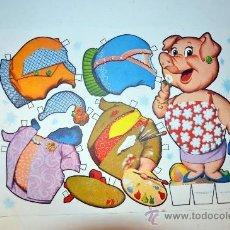 Collectables Paper Dolls - Modelo Lamina 2. Recortable fabula animal cerdo MARIQUITA año 1970 - 127220714