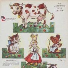 Coleccionismo Recortables: RECORTABLES ¡ZAS!. SERIE B. NÚMERO 1. MIS AMIGUITOS DE LA GRANJA.. Lote 39615625