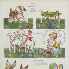 Coleccionismo Recortables: RECORTABLES ¡ZAS!. SERIE B. NÚMERO. 3. MIS AMIGUITOS DEL CAMPO.. Lote 39688726