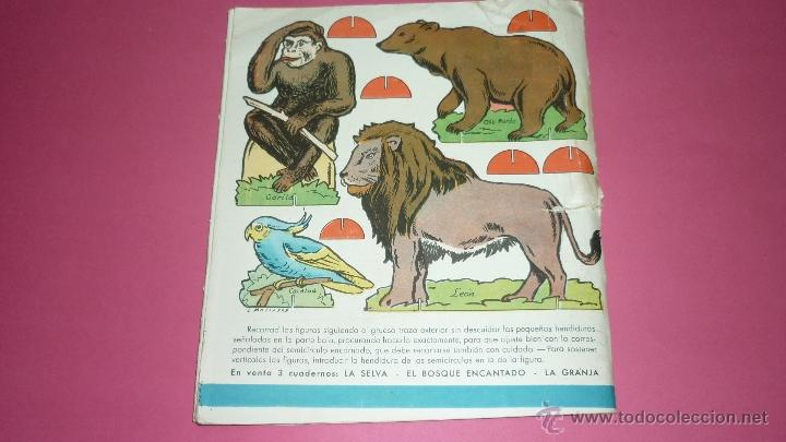 Coleccionismo Recortables: LA SELVA. Recortes TRIS-TRAS. Ed. Roma. Barcelona. Ilust: Mallafré. Desplegable en carton. Años 50s - Foto 2 - 39982166