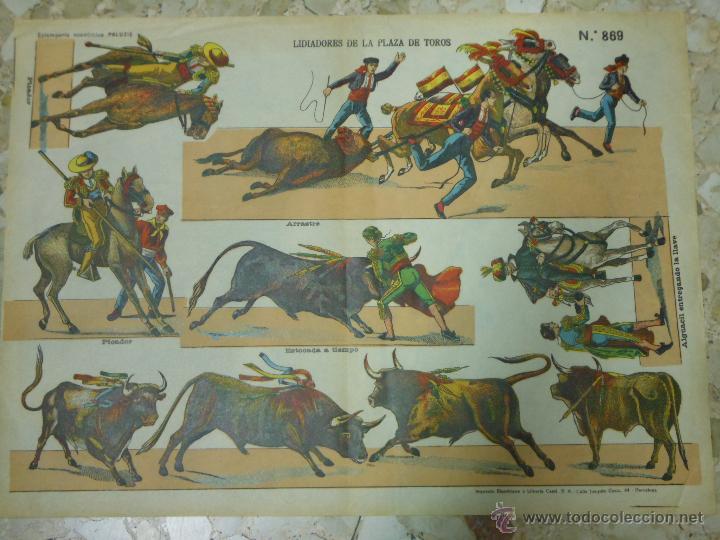RECORTABLE DE PALUZIE Nº 869 LIDIADORES DE LA PLAZA DE TOROS (Coleccionismo - Recortables - Animales)