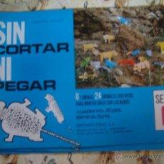 Collectables Paper Dolls - SIN CORTAR NI PEGAR - 8 LAMINAS CON 24 ANIMALES - SERIE C - TORAY 1971 - NUEVO A ESTRENAR DE KIOSKO - 42695953
