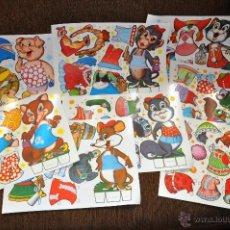 Collectables Paper Dolls - Lote 8 laminas recortables de animales año 1970 (cerdo, perro, rata...). Fabula recortable animal. - 165347337