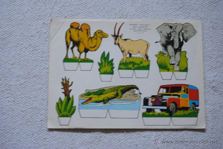 RECORTES KIKI- LOLO SERIE ANIMALES Nº 8 AÑO 1970 (Coleccionismo - Recortables - Animales)