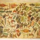 Coleccionismo Recortables: GRAN HOJA RECORTABLE CON ANIMALES Y HOMBRES DE LA EDAD DE PIEDRA PARA RECORTAR. Lote 45023025