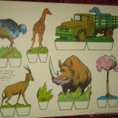 Coleccionismo Recortables: RECORTABLES KIKI - LOLO .. SERIE ANIMALES 9. Lote 45257252