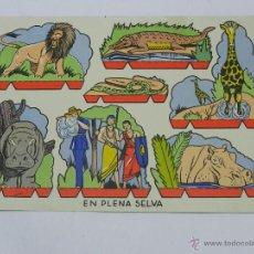 Coleccionismo Recortables: ANTIGUO RECORTABLE EN PLENA SELVA, MIDE 28 X 20 CMS.. Lote 47183759