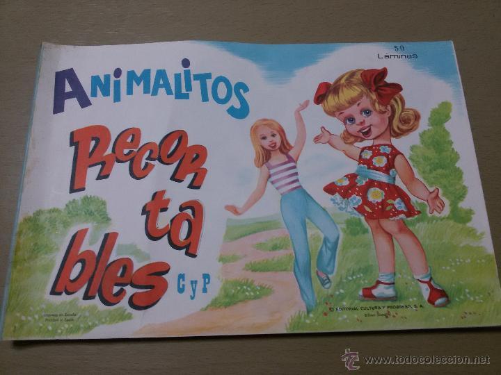 RECORTABLES ANIMALITOS-ALBUM COMPLETO-50 LÁMINAS-5 SERIES DE 10-31X21 CM (Coleccionismo - Recortables - Animales)