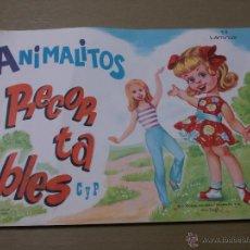 Coleccionismo Recortables: RECORTABLES ANIMALITOS-ALBUM COMPLETO-50 LÁMINAS-5 SERIES DE 10-31X21 CM. Lote 49346536