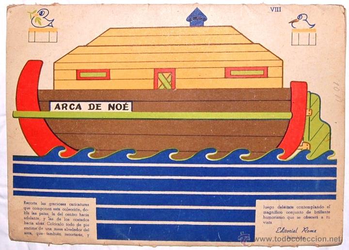 Coleccionismo Recortables: PRECIOSO RECORTABLE GRANDES CARPETAS RECORTABLES EDITORIAL ROMA. Nº 2 EL ARCA DE NOE - Foto 3 - 51730406