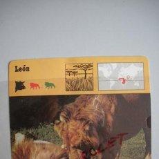Coleccionismo Recortables: FICHA TECNICA DEL - L E O N - DEL AÑO 1975 -. Lote 54302186