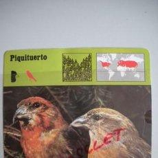 Coleccionismo Recortables: FICHA TECNICA DEL - P I Q U I T U E R T O - DEL AÑO 1975 -. Lote 54302231