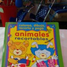Coleccionismo Recortables: ANIMALES RECORTABLES CON PEGATINAS.TODOLIBRO 90S.NUEVO.. Lote 275291198