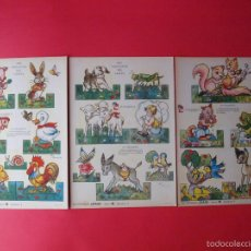 Coleccionismo Recortables: RECORTABLES ¡ZAS! SERIE B NÚMEROS 2, 3 Y 4 - EURAMERICA - DIBUJOS ELSI GUMIER. Lote 57894099