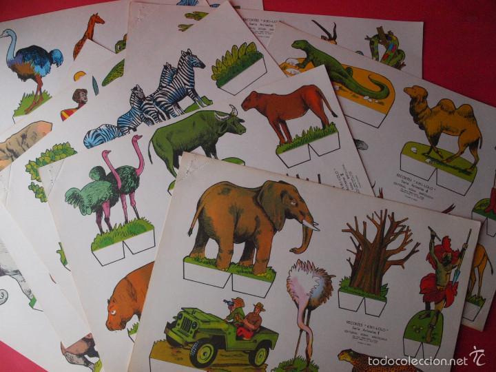9 RECORTABLES RECORTES KIKI-LOLO SERIE ANIMALES - ED ROMA - 1970 - COMPLETA - BE (Coleccionismo - Recortables - Animales)