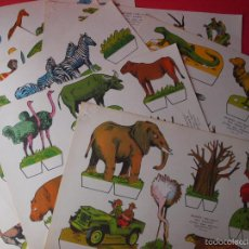 Collectables Paper Dolls - 9 RECORTABLES RECORTES KIKI-LOLO SERIE ANIMALES - ED ROMA - 1970 - COMPLETA - BE - 57894187