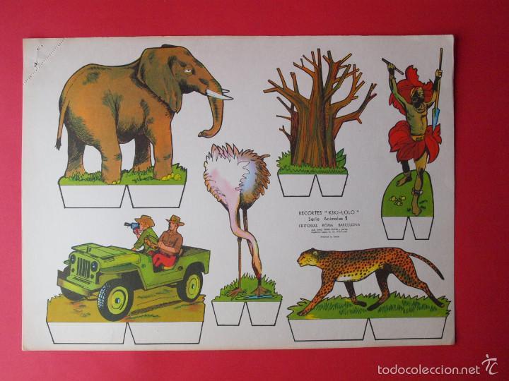 Coleccionismo Recortables: 9 RECORTABLES RECORTES KIKI-LOLO SERIE ANIMALES - ED ROMA - 1970 - COMPLETA - BE - Foto 2 - 57894187