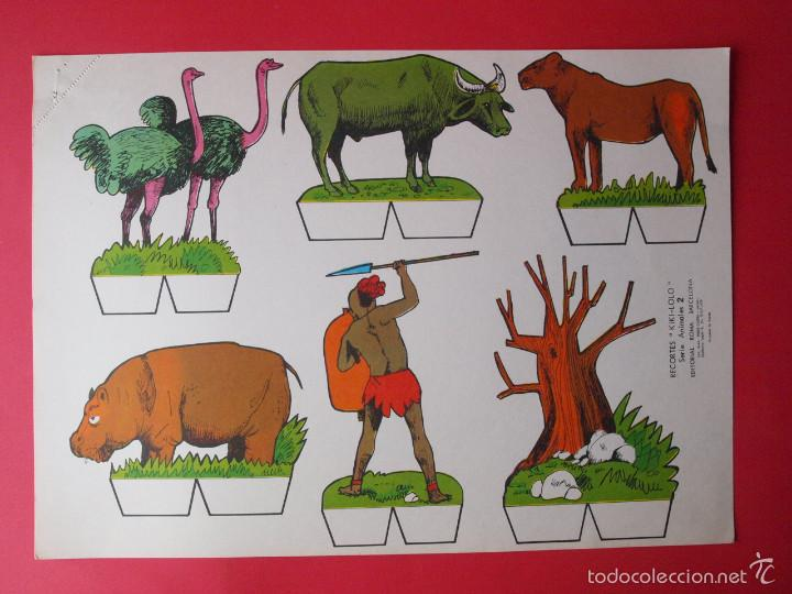 Coleccionismo Recortables: 9 RECORTABLES RECORTES KIKI-LOLO SERIE ANIMALES - ED ROMA - 1970 - COMPLETA - BE - Foto 3 - 57894187