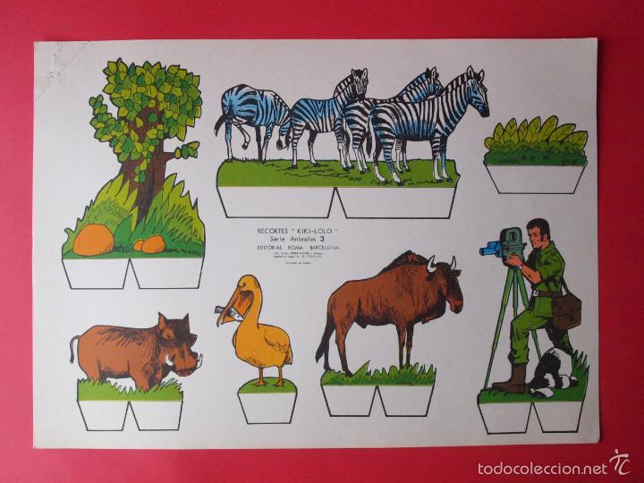 Coleccionismo Recortables: 9 RECORTABLES RECORTES KIKI-LOLO SERIE ANIMALES - ED ROMA - 1970 - COMPLETA - BE - Foto 4 - 57894187
