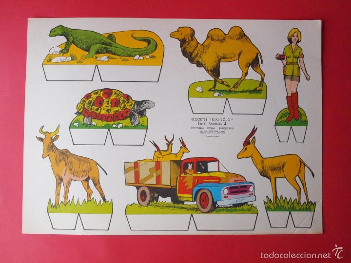 Coleccionismo Recortables: 9 RECORTABLES RECORTES KIKI-LOLO SERIE ANIMALES - ED ROMA - 1970 - COMPLETA - BE - Foto 5 - 57894187