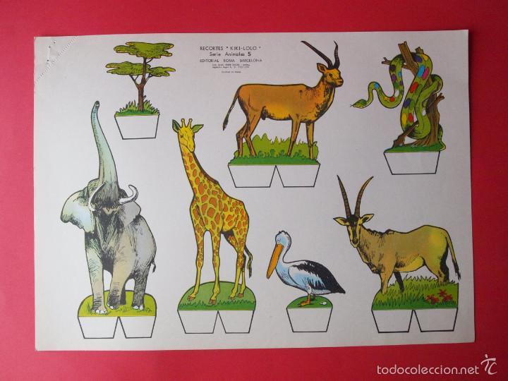 Coleccionismo Recortables: 9 RECORTABLES RECORTES KIKI-LOLO SERIE ANIMALES - ED ROMA - 1970 - COMPLETA - BE - Foto 6 - 57894187