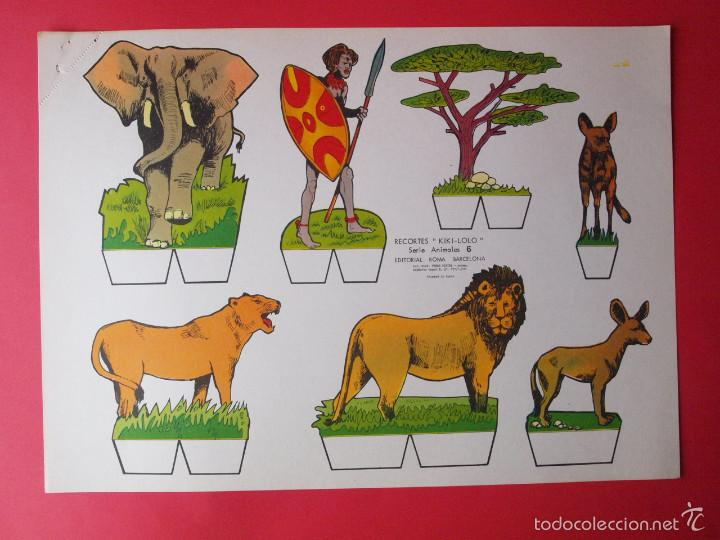 Coleccionismo Recortables: 9 RECORTABLES RECORTES KIKI-LOLO SERIE ANIMALES - ED ROMA - 1970 - COMPLETA - BE - Foto 7 - 57894187